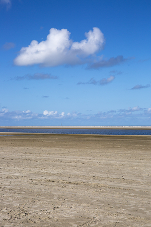 shorelines: Empty beach at the island Ameland in Holland