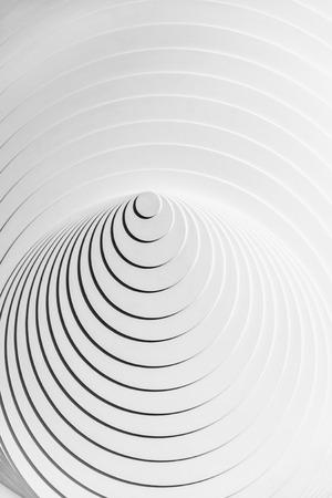 virtual sculpture: Abstract white eccentric circles