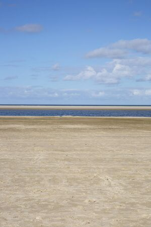 wadden: Empty beach at the island Ameland in Holland