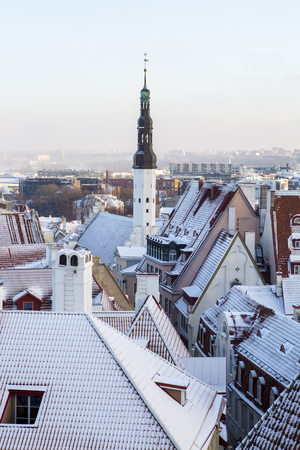 City scape of the old town of Tallinn Stock Photo