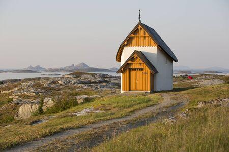 Chapel, Traena island, norway Stock Photo