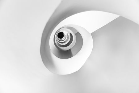 abstract pattern formed by a spiral staircase Stock Photo