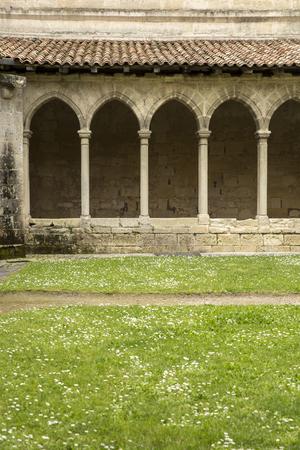 saint emilion: Cloister, French medieval village Saint Emilion, France