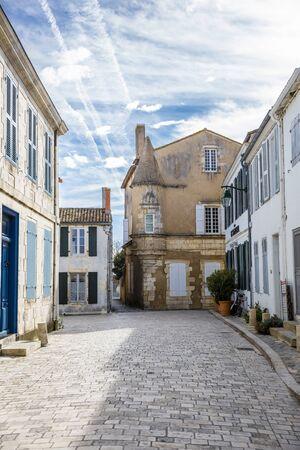 're: Little street of village of Ars en Re, Ile de Re, France