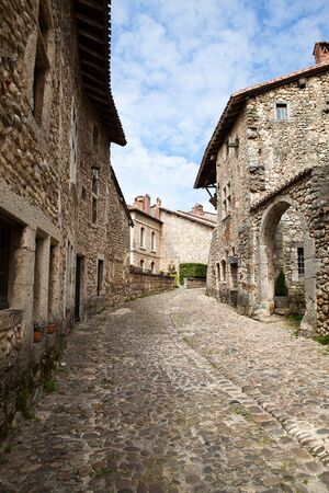 secular: Medieval village of Perouges, France Stock Photo