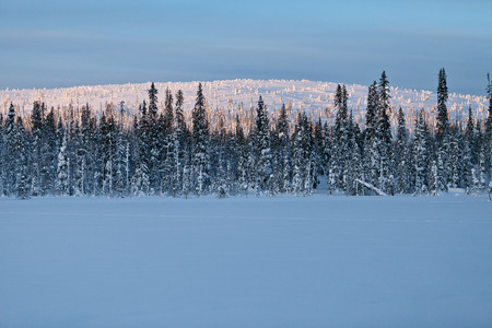Winter Finnish snowy lanscape Imagens