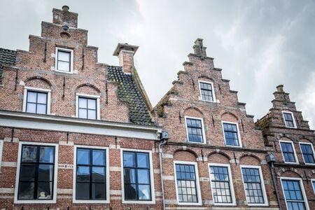 front of Dutch gabble house  facade
