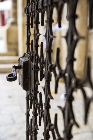 vaux: Metal work churchcastle  gate Stock Photo
