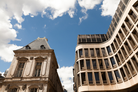 Old and new modern buildings Old Town Lyon Stock Photo