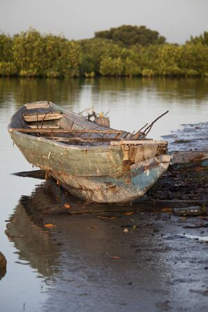 Traditional Senegalese wooden boat