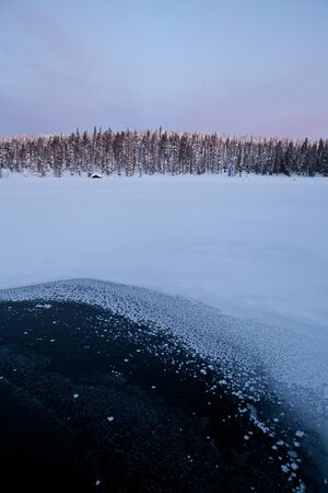 unaffected: Winter Finnish snowy lanscape Stock Photo