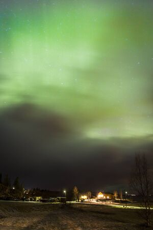 northern light: Green Northern light, Nordland, Norway Stock Photo