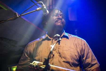 Amsterdam, The Netherlands - February 17, 2016: concert of african band from Mali BKO Quintet at Paradiso Bitterzoet concert hall.