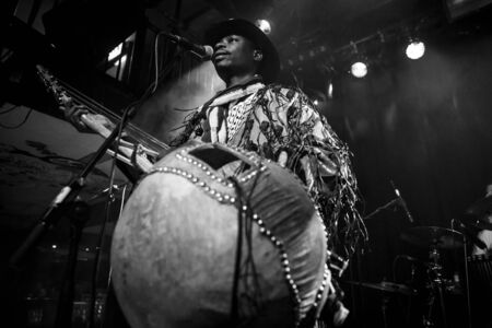Amsterdam, The Netherlands - February 17, 2016: concert of african band from Mali BKO Quintet at Paradiso Bitterzoet concert hall. Reklamní fotografie
