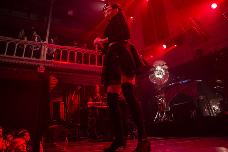 Amsterdam, The Netherlands - 22 November, 2016: concert of French electro swing band Caravan Palace at venue Paradiso