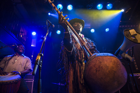 Amsterdam, The Netherlands - February 17, 2016: concert of african band from Mali BKO Quintet at Paradiso Bitterzoet concert hall. Redakční