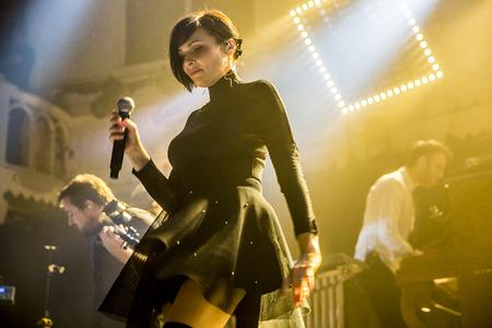 Amsterdam, The Netherlands - 22 November, 2016: concert of French electro swing band Caravan Palace at venue Paradiso