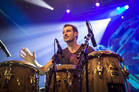 felix: Amsterdam, The Netherlands, 8 November 2016: concert of  Australian ska and jazz band The Cat Empire at venue Melkweg