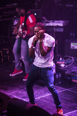 vibe: Amsterdam, The Netherlands - July, 1 2016: support act with Christopher Martin before the concert of reggae singers Gentleman and Ky-Mani Marley at Melkweg as part of cultural and world music festival Roots Amsterdam