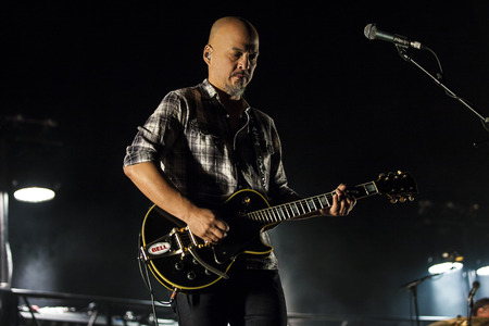 Amsterdam, the Netherlands - 27 November 2016:  Joey Santiago, lead guitarist of American alternative indie rock band the Pixies is performaing at Heineken Music Hall