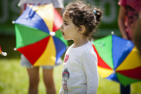 brazilian ethnicity: Amsterdam, The Netherlands - July, 3 2016: dance workshop with children at Amsterdam Roots Open Air, free public cultural festival held in Oosterpark