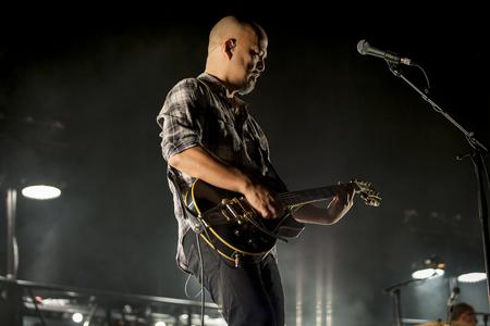 Amsterdam, the Netherlands - 27 November 2016:  Joey Santiago, lead guitarist of American alternative indie rock band the Pixies is performaing at Heineken Music Hall