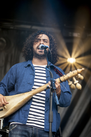 Amsterdam, The Netherlands - July, 5 2015: during the concert of Tunisian band Bargou 08 at Amsterdam Roots Open Air, cultural festival held in Park Frankendael on 05072015