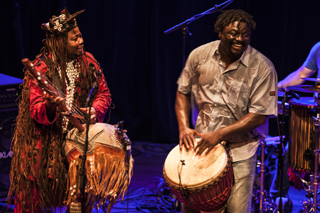 Amsterdam, The Netherlands - July, 3 2015: concert of african band BKO Quintet at Bimhuis, as part of cultural and world music festival Amsterdam Roots.