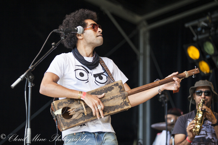 Amsterdam, The Netherlands - July, 3 2016: concert of alternative Algerian band Djmawi Africa at Amsterdam Roots Open Air, free public cultural festival held in Oosterpark Editorial