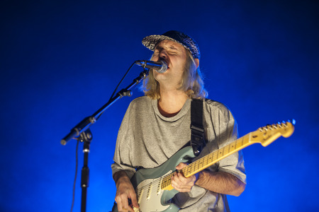 Amsterdam, The Netherlands - 27 November 2016: support act of Swedish rock band FEWS before concert of the Pixies in Heineken Music Hall