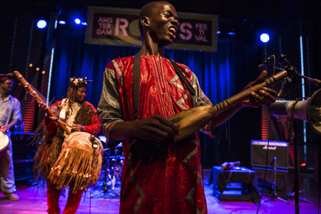 Amsterdam, The Netherlands - July, 3 2015: concert of african band BKO Quintet at Bimhuis, as part of cultural and world music festival Amsterdam Roots. Redakční