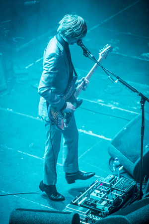 Amsterdam, The Netherlands - 21 february, 2016: concert of English psychedelic rock band Kula Shaker for their album release K 2.0 at Paradiso concert hall Stock Photo