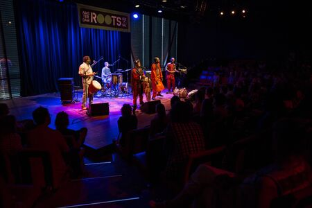 Amsterdam, The Netherlands - July, 3 2015: concert of african band BKO Quintet at Bimhuis, as part of cultural and world music festival Amsterdam Roots. Reklamní fotografie