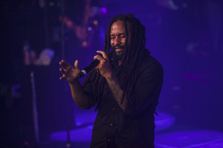 vibe: Amsterdam, The Netherlands - July, 1 2016: concert of reggae singers Gentleman and Ky-Mani Marley at Melkweg as part of cultural and world music festival Roots Amsterdam