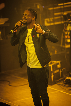 Amsterdam, The Netherlands - July, 1 2016: support act with Christopher Martin before the concert of reggae singers Gentleman and Ky-Mani Marley at Melkweg as part of cultural and world music festival Roots Amsterdam