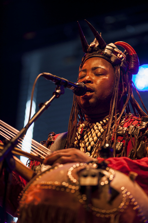 quintet: Amsterdam, The Netherlands - July, 3 2015: concert of african band BKO Quintet at Bimhuis, as part of cultural and world music festival Amsterdam Roots.
