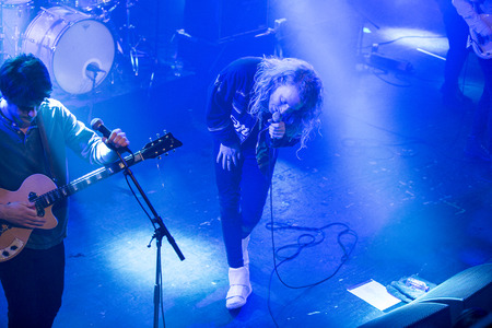 Amsterdam, The Netherlands - 24 February 2017 - Concert of American rock band The Orwells at Paradiso Noord - De Tolhuistuin Editorial