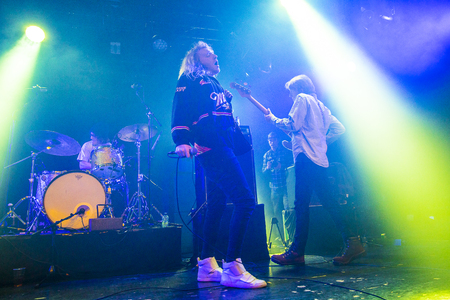 entertaiment: Amsterdam, The Netherlands - 24 February 2017 - Concert of American rock band The Orwells at Paradiso Noord - De Tolhuistuin Editorial