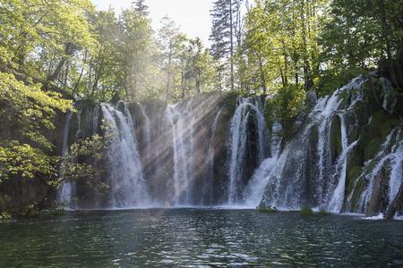 waterfall at  Plitvice Lakes National Park, Croatia