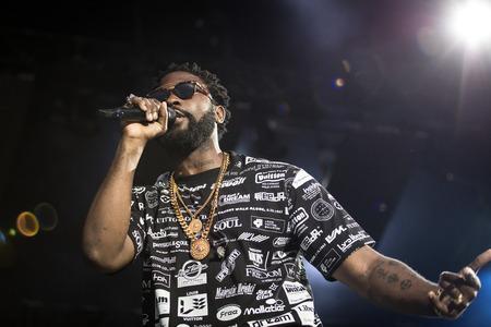 Nyon, Switzerland - 26 July 2019 :  concert of Congolese-Belgian rap singer Damso