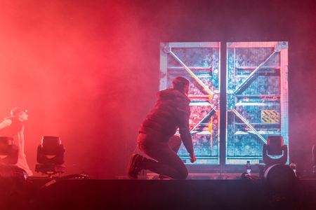 Nyon, Switzerland - 26 July 2019 :  concert of French rap singer Soprano