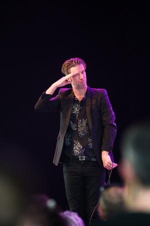 Nyon, Switzerland - 24 July 2019 :  concert of French singer-songwriter Bertrand Belin