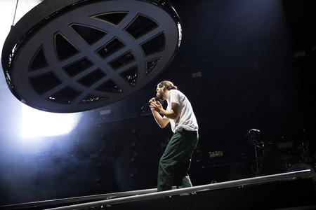 Nyon, Switzerland - 25 July 2019 :  concert of  French rap singer Lomepal