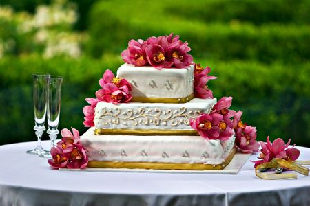 wedding cake: Wedding Cake Stock Photo