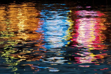with reflection: Water and light impression Stock Photo
