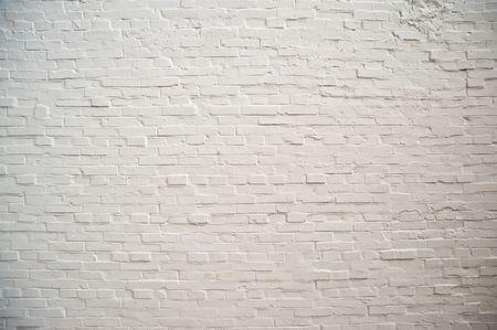 whitewash: White brick wall