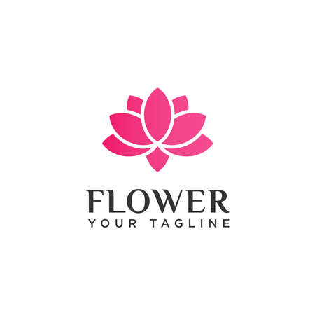 Beauty Lotus Flower Logo Design Template