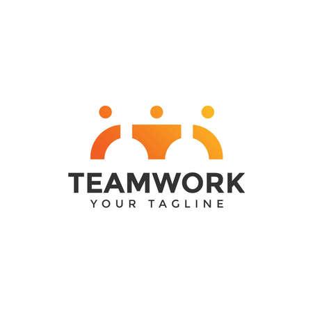 Teamwork Logo Design Template 일러스트