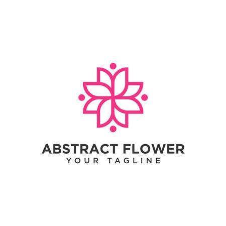 Abstract Flower Logo Design Template