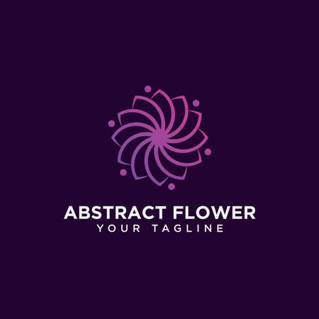 Elegant Abstract Flower Logo Design Template